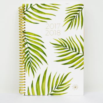 2017-18 palm leaves planner