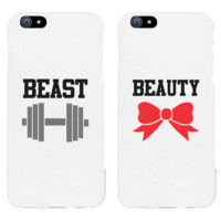 Beauty and Beast Matching Couple Phone Cases Christmas Gifts