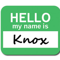 Knox Hello My Name Is Mouse Pad
