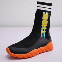 DCCKLM3 Fendi Sock Runner Sneakers high-knit trend running shoes