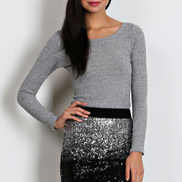 Walk With Me Ombre Sequin Skirt