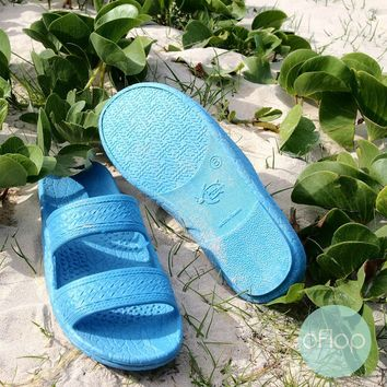 Sky Blue Jandals ® -- Pali Hawaii Hawaiian Jesus Sandals