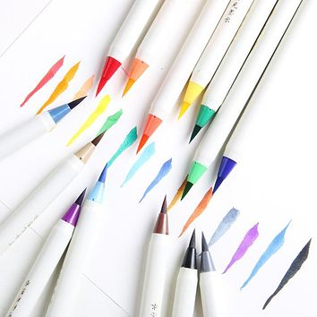 1PC Soft Brush Calligraphy Pen Watercolor Marker Brush Fineliner  Art Marker Cartoon Design Sketch Manga Graphic Drawing