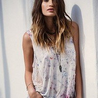Hero Crane for Free People Womens Washed Lounge Top