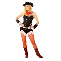 Leg Avenue Womens Shoot Em Up Cowgirl Halloween Party Dress Costume