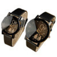 PU Leather Belt Watches Student Casual Couples Watches Men Women Wristwatches IMY66
