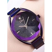 Dior 2019 new star wild female fashion waterproof quartz watch Purple
