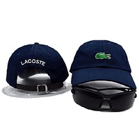 Lacoste Women Men Embroidery Hip Hop Sport Baseball Cap Hat-1