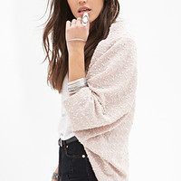 FOREVER 21 Sequined Knit Dolman Cardigan Taupe