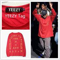2017 New Arrival T shirt Men Gains YEEZY Clothes I feel like Pablo Kanye West Season 3 Hip hop YEEZY Chinese size M-2XL