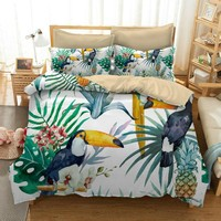 Luxury Cotton Bedding Sets Animal 3D Digital HD Printing Bedclothes 2/3/4pcs Bed Linen Comforter Cotton Size King Best Gift