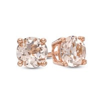 5.0mm Morganite Stud Earrings in 10K Rose Gold
