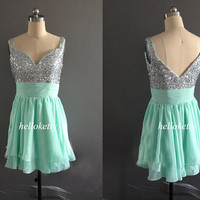 Mint Homecoming Dresses,Summer Dresses,Evening Dresses,Short Prom Dresses,Party Dresses,Maxi Dresses,Formal Dresses,Fancy Dresses,GK024