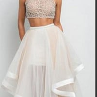 CUTE TWO PIECE HOMECOMING DRESS