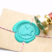 Rabbit Bunny Gold Plated Wax Seal Stamp x 1