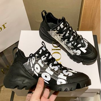 Dior (fluorescence) D-CONNECT SNEAKER