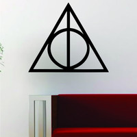 Harry Potter Deathly Hallows Logo Decal Wall Vinyl Art Decor Room Movies Teen