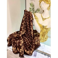Bunchsun LV Louis Vuitton Popular Woman Cape Scarf Scarves Accessories
