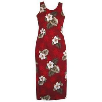 lava hawaiian long tank dress