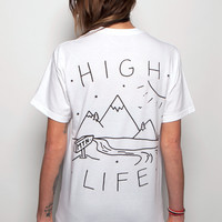 High Life Unisex T-shirt White
