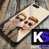Miley Cyrus and Justin Bieber - iPhone 4/4S, 5/5S, 5C and Samsung Galaxy S3 i9300, S4 i9500 case.