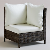 All-Weather Wicker Solano Sectional Armchair - World Market