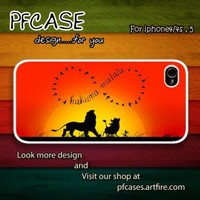 Infinity Hakuna matata Case For Iphone 44s 5 Samsung S234 by pfcases12 on Zibbet