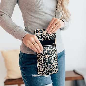 Leopard Cross Body Phone Purse