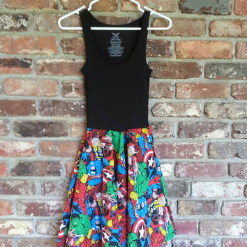 Marvel comics superhero sundress