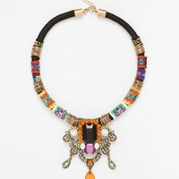 Designsix | Designsix Multicoloured Thread Wrapped Necklace at ASOS