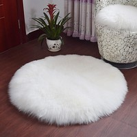 1PCS Soft Wool Living Room Coffee Table Cushion Sofa Carpet