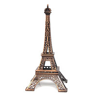 Metal Eiffel Tower Paris France Souvenir, 15-inch, Brown