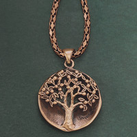 Tree of Life Copper Necklace - New Age, Spiritual Gifts, Yoga, Wicca, Gothic, Reiki, Celtic, Crystal, Tarot at Pyramid Collection