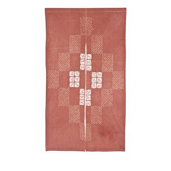 Japanese Noren Curtain Red