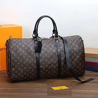 LV Louis Vuitton Hot Sale Fashion Large Capacity Letter Printing Travel Bag Shoulder Bag Duffel Bag luggage bag