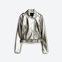 METALLIC BIKER JACKET DETAILS