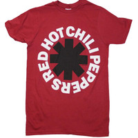 Red Hot Chili Peppers Black Asterisk Red T Shirt