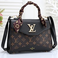 LV Louis vuitton Women Fashion Scarf Handbag Crossbody Satchel bag