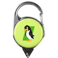Cute penguin cartoon badge holder