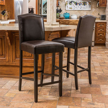 Leather Stools - Easy Home Concepts