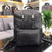 Fendi Men's 7Vz031ommf07al Black Leather Backpack Bag