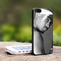 TUPAC SHAKUR 2PAC - For iPhone 5 Black Case Cover