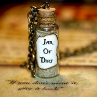Necklace  Jar of Dirt and Key Disney Pirates by LifeistheBubbles