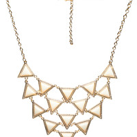 Tiered Triangles Statement Necklace | Wet Seal