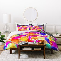 Holly Sharpe Colorful Chaos 1 Duvet Cover