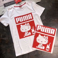 PUMA & Hello Kitty 2018 counters new cooperation stylish stylish T-shirt F-AA-SYSY