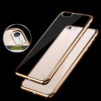 For Apple iPhone 7 6 Case Slim Plating Clear TPU Silicone Protective sleeve For iPhone 5 5S SE 6 6S 7 Plus Covers Cases Coque