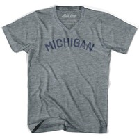 Michigan City Vintage V-neck T-shirt