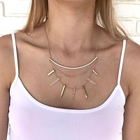 Stone Age Layered Necklace in Gold