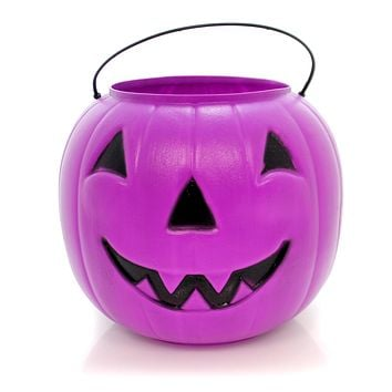 Purple Big Jack Pumpkin Pail Halloween Outdoor Decor